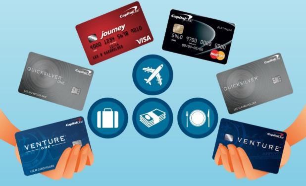 Various credit cards rewards